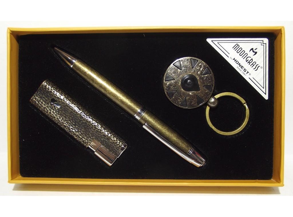 MTC-102 Подарочный набор ручка + брелок + зажигалка Подарок для мужчины ручка брелок зажигалка