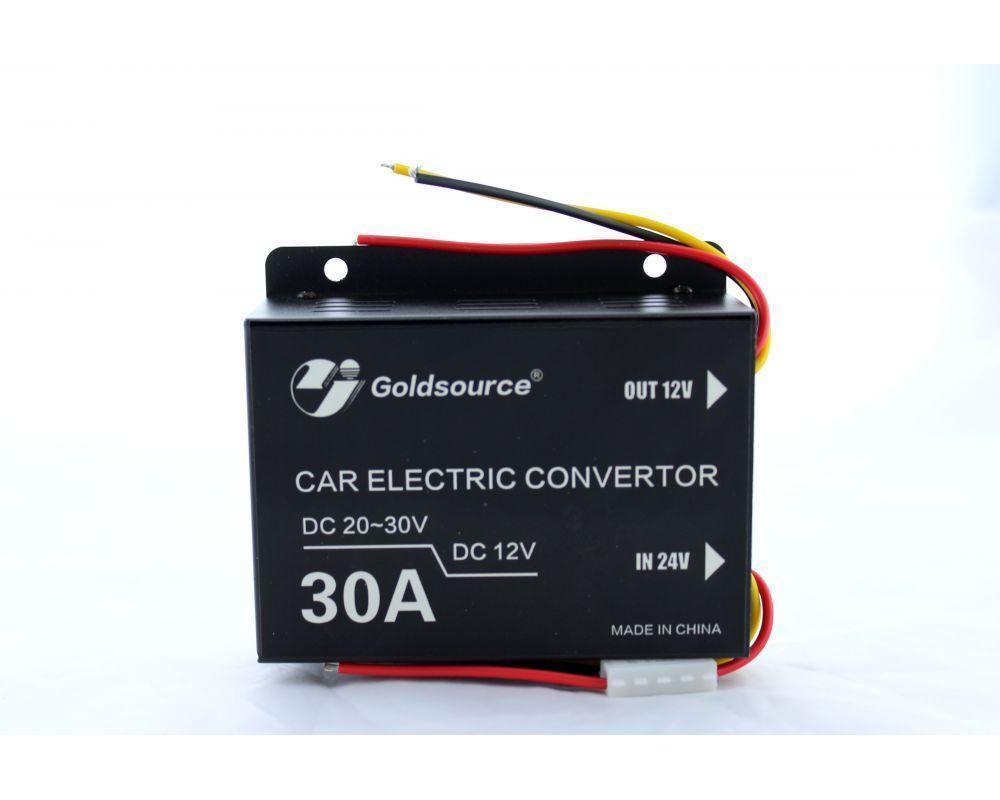 Преобразователь 24v-12v 30A 338, Прибор инвертор, Автомобильный инвертор, Автоинвертор, Преоразователь тока