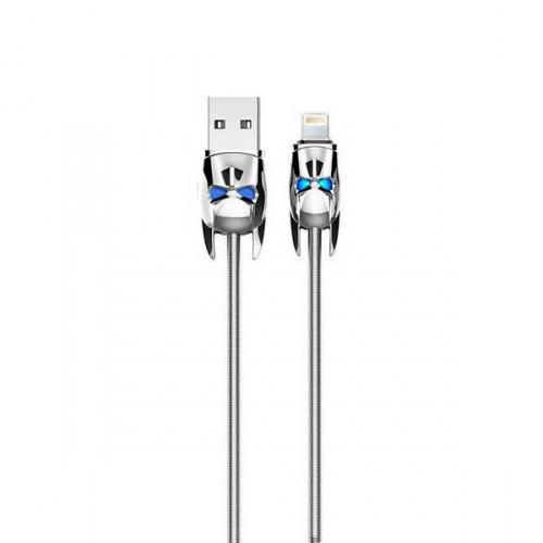 ✅ USB Кабель Hoco U30 Lightning Shadow Knight 1.2 м серебро