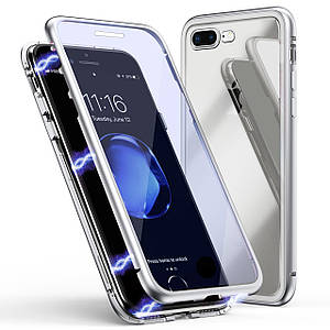 Чехол  накладка xCase для iPhone 7/8 Double-sided Magnetic Case transparent white