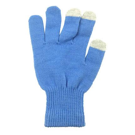 ✅ Перчатки iTouch для сенсорных экранов Sky blue, фото 2