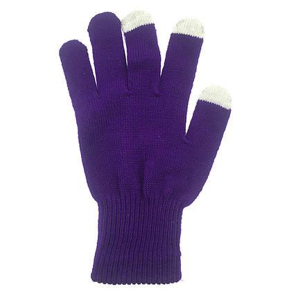 ✅ Перчатки iTouch для сенсорных экранов Ultra Violet, фото 2