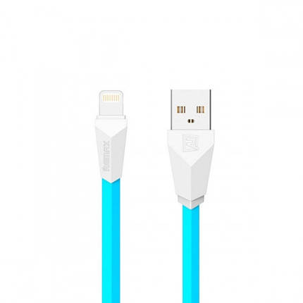 ✅ USB кабель Remax Lightning Aliens RC-30i (1m) blue/white, фото 2