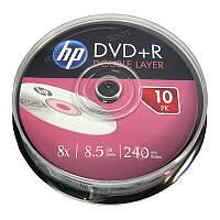 Диск HP  8,5Gb - 8x  (cake 10)  DVD+R   двухслойная