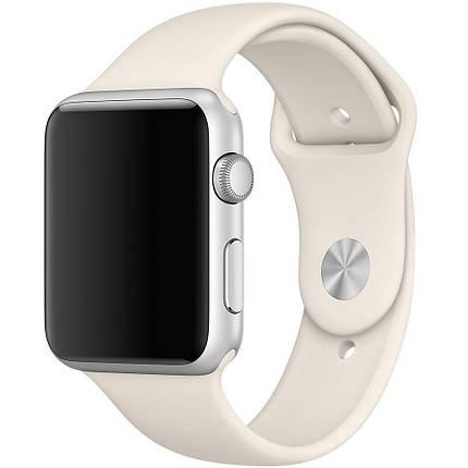 ✅ Ремешок xCase для Apple Watch Sport Band 38/40 mm Antique white (M), фото 2