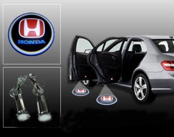Дверной автомобильный логотип LED LOGO 004 HONDA, Светящийся логотип Хонда, Светодиодный логотип в машину