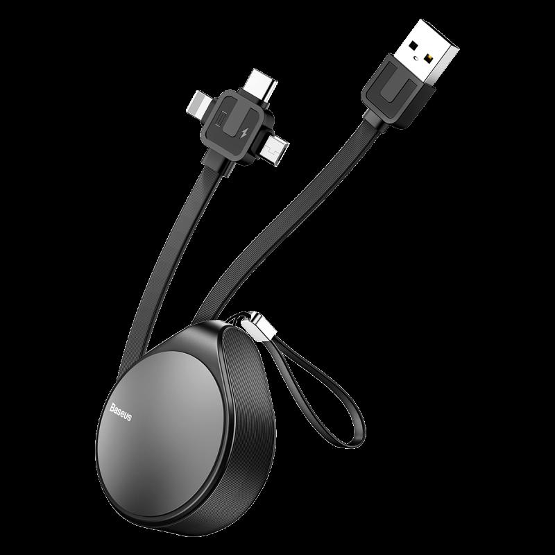 ✅ USB кабель Baseus Waterdrop 3in1, 1.5A/1,5m black