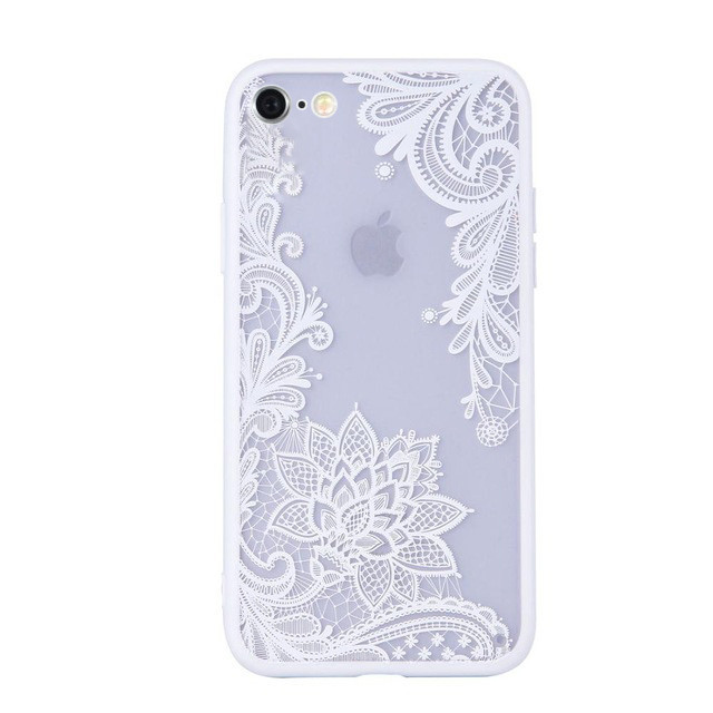 Чехол для iPhone 5/5s/se ажурный белый