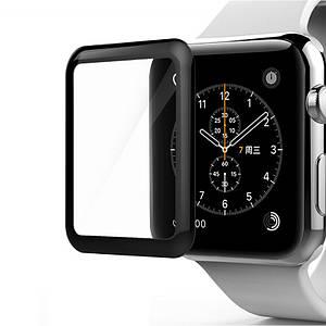 Защитное стекло для Apple Watch 3d 38mm черный