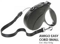 Ferplast Amigo Easy S Cord Nero поводок-рулетка шнур, черный, 5 м, до 15 кг