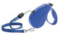 Ferplast Amigo Easy S Cord Blu поводок-рулетка шнур, синий, 5 м, до 15 кг