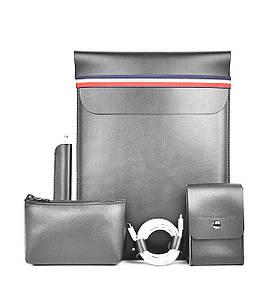 Сумка для ноутбука MacBook Wiwu Elite set 5in1 14'' gray
