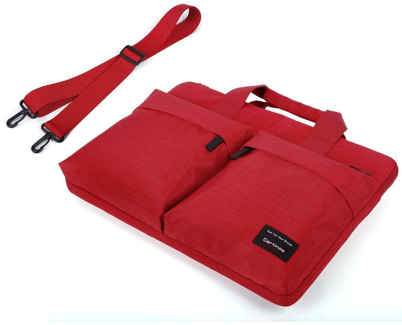 ✅ Сумка для ноутбука Cartinoe Water Resistant 13.3'' red
