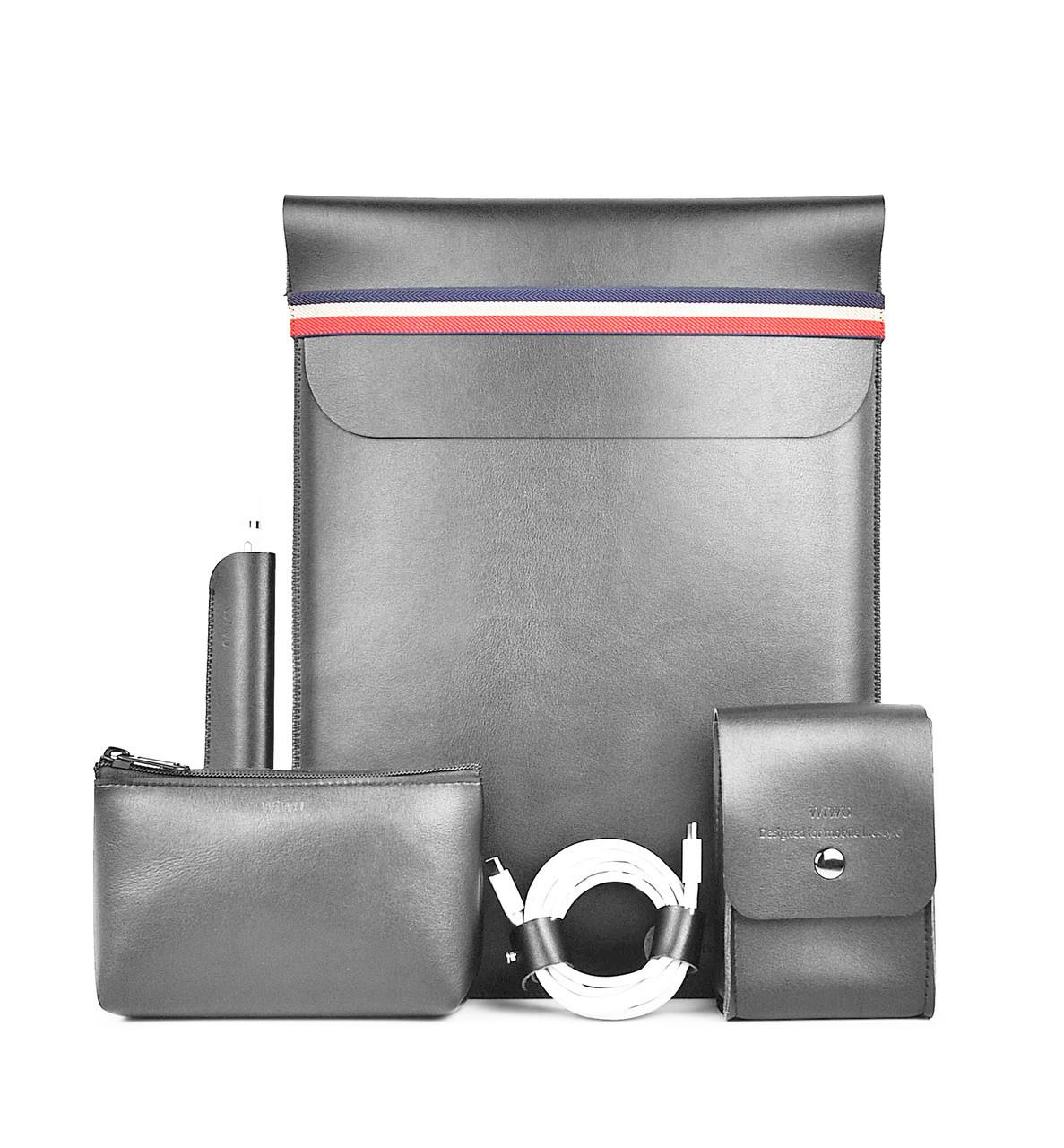 ✅ Сумка для ноутбука MacBook Wiwu Elite set 5in1 13.3'' gray