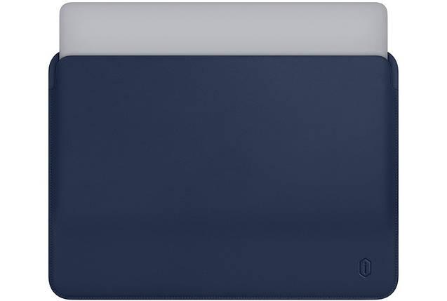 Папка конверт Wiwu Skin Pro Leather для MacBook 13''  blue, фото 2