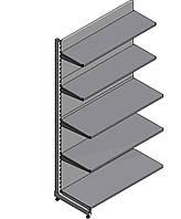 Стеллаж торговый пристенный с металлическими полками WIKO ВИКО для магазина. Торговое оборудование в наличии, фото 1