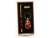 Сувенирный набор, PN4-5854 Подарочный Набор: Ручка + Брелок - Фонарик, Оригинальный подарок мужчине