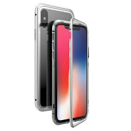 Чехол  накладка xCase для iPhone Х/XS Magnetic Case прозрачный белый, фото 2