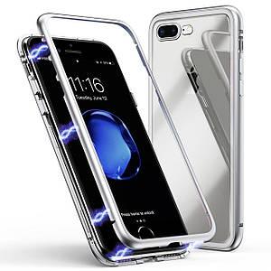 Чехол  накладка xCase для iPhone 7Plus/8Plus Magnetic Case прозрачный белый