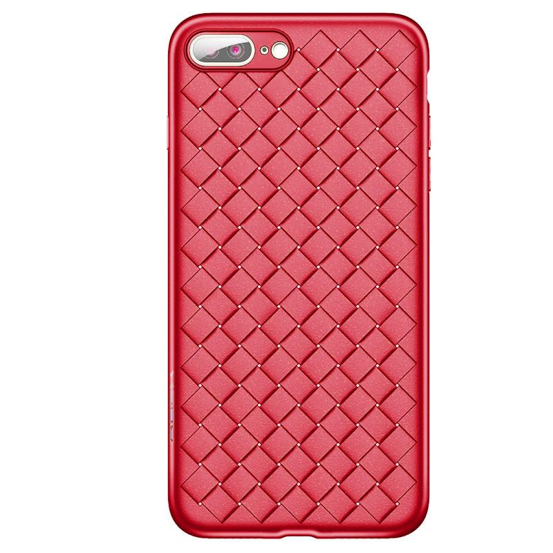 Чехол для iPhone 7 Plus/8 Plus Weaving Case красный