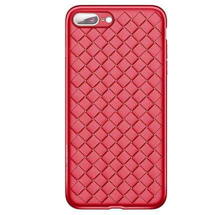 Чехол для iPhone 7 Plus/8 Plus Weaving Case красный, фото 2