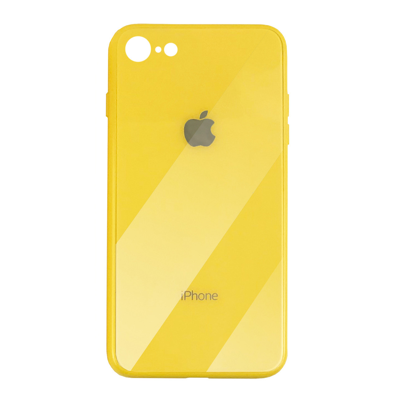 Чехол для iPhone 7/8 Glass Case Logo yellow