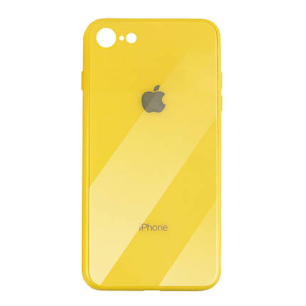 Чехол для iPhone 7/8 Glass Case Logo yellow, фото 2