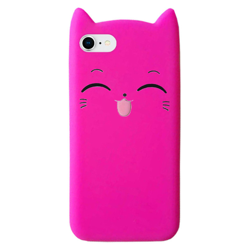 Чехол на iPhone 6/6s Cartoon Cat rose red