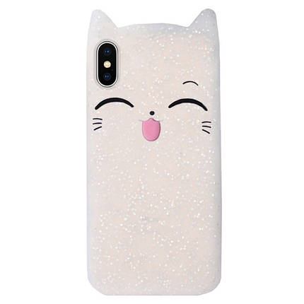 Чехол на iPhone X/XS Cartoon Cat transparent, фото 2