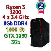 Игровой компьютер / ПК  ( AMD Ryzen 3 1200  4 x 3.1GHz \ A320 \ 8Gb DDR4 \ 1 Tb \ GTX 1050  \ 500W)