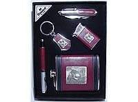 NFEE259 Подарочная фляга для алкоголя, Набор мужской фляга + нож + зажигалка + ручка + брелок, Фляжка 270мл