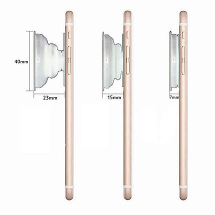 ✅ Чехол накладка xCase на iPhone 7 Plus/8 Plus Broken Glass силикон белый + Popsocket, фото 2