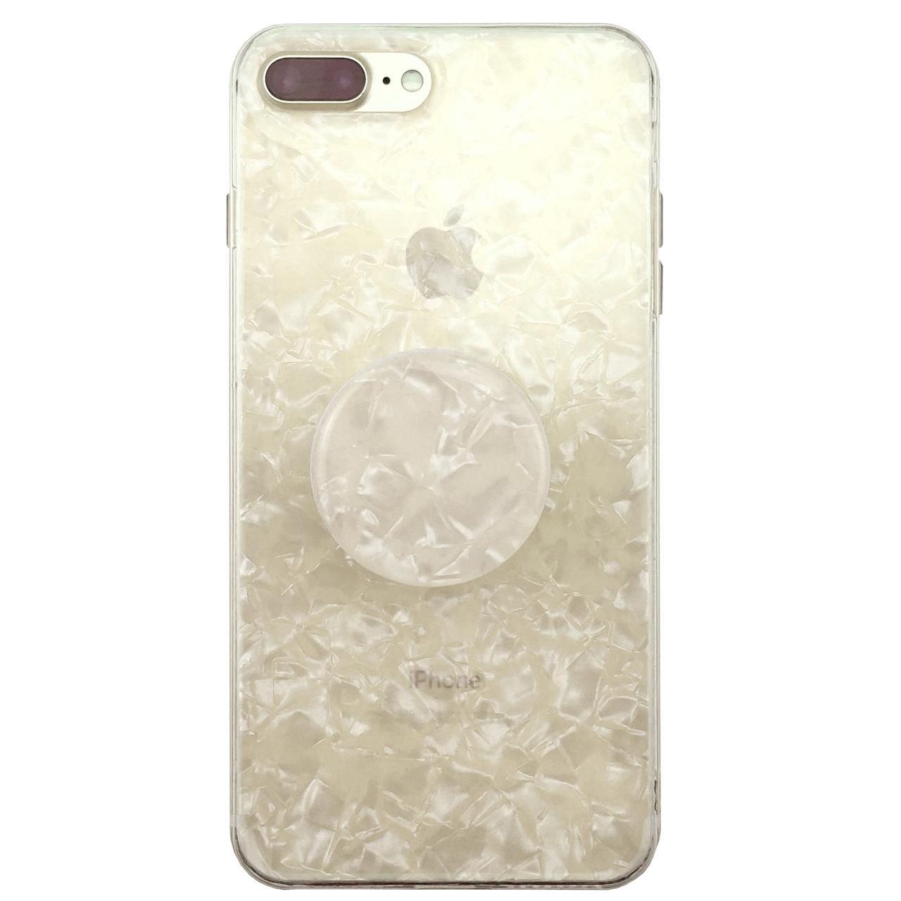✅ Чехол накладка xCase на iPhone 7 Plus/8 Plus Broken Glass силикон перламутр + Popsocket