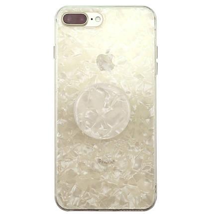 ✅ Чехол накладка xCase на iPhone 7 Plus/8 Plus Broken Glass силикон перламутр + Popsocket, фото 2