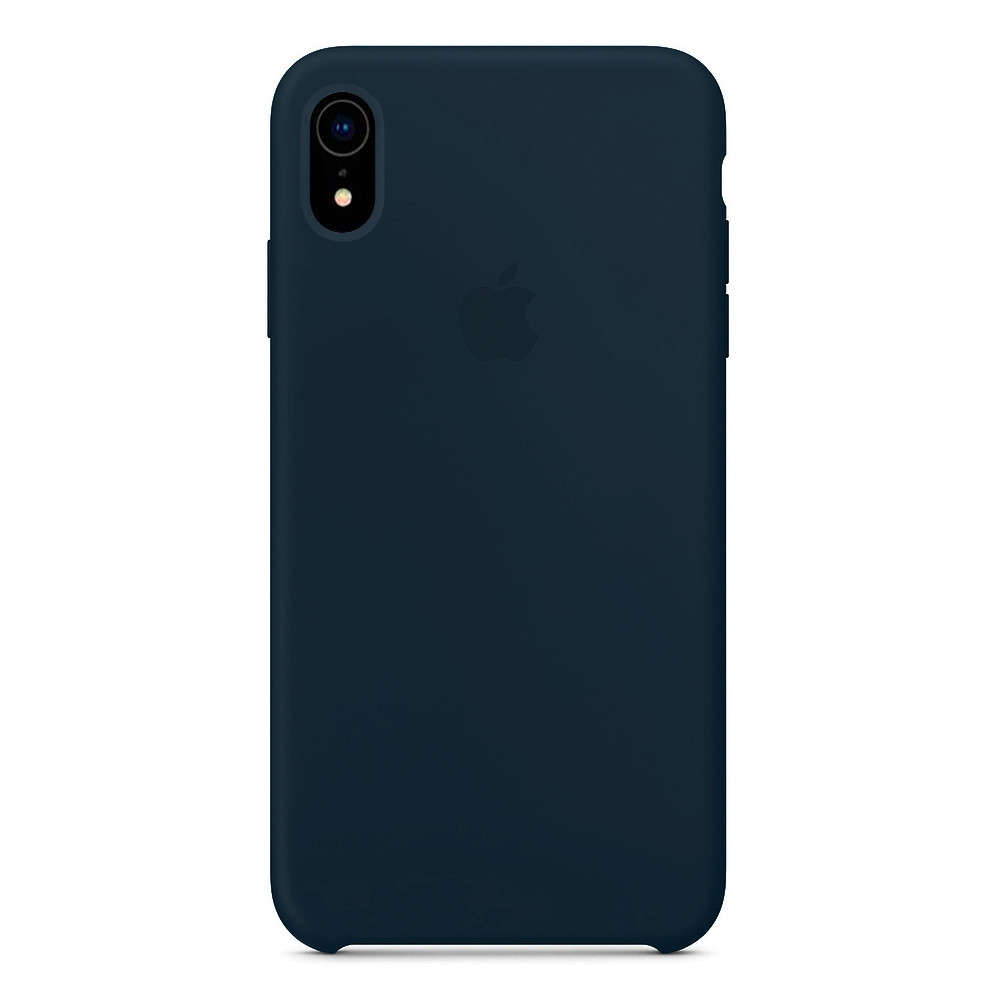 Чехол накладка xCase для iPhone XR Silicone Case Forest green