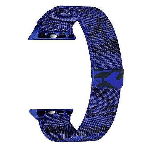 ✅ Ремешок xCase для Apple watch 42/44 mm Milanese Loop Metal military blue