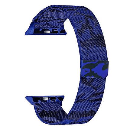 ✅ Ремешок xCase для Apple watch 42/44 mm Milanese Loop Metal military blue, фото 2