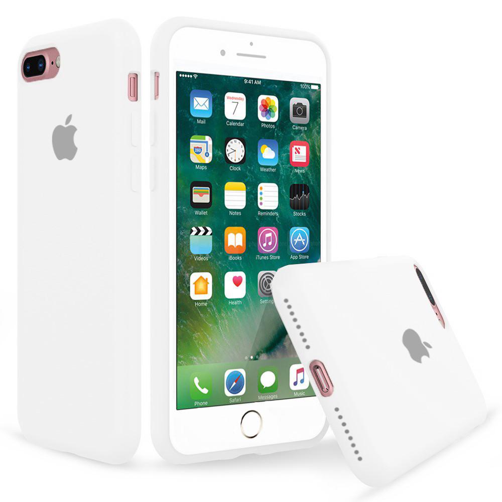 Чехол накладка xCase для iPhone 7 Plus/8 Plus Silicone Case Full white