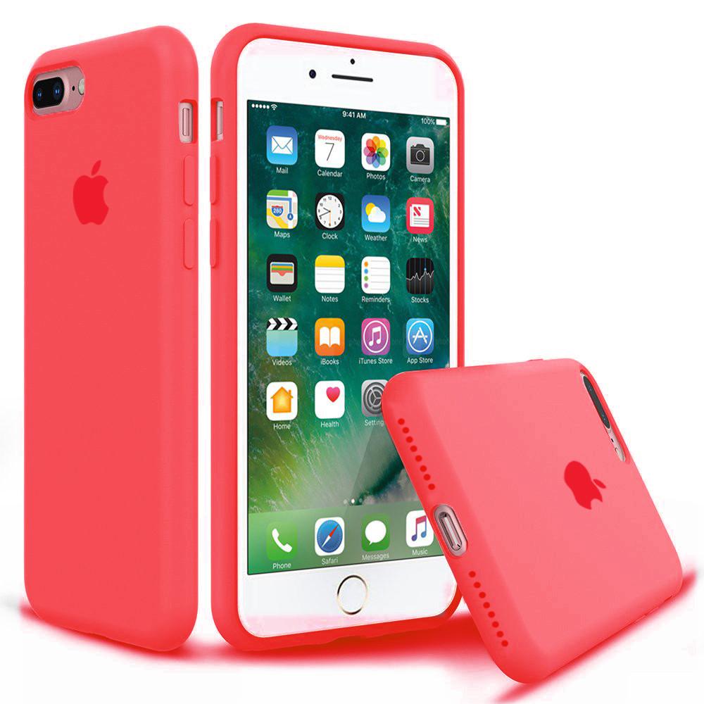 Чехол накладка xCase для iPhone 7 Plus/8 Plus Silicone Case Full красный