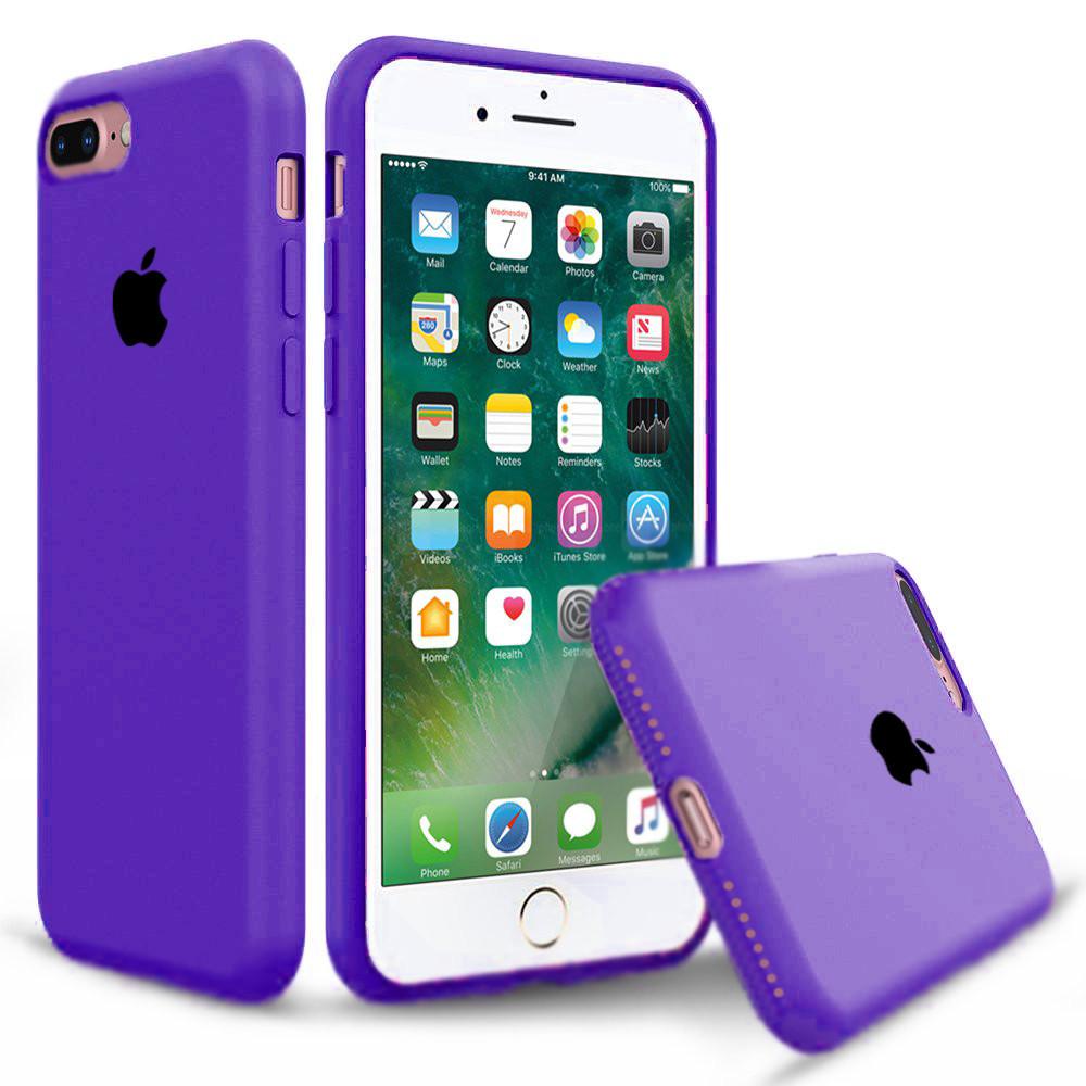 Чехол накладка xCase для iPhone 7 Plus/8 Plus Silicone Case Full фиолетовый