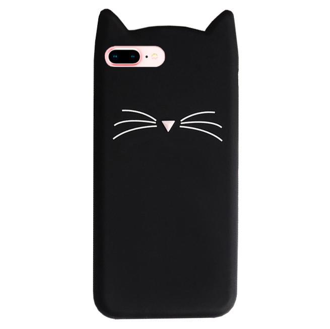Чехол для iPhone 7 Plus/8 Plus Silicone Cat черный