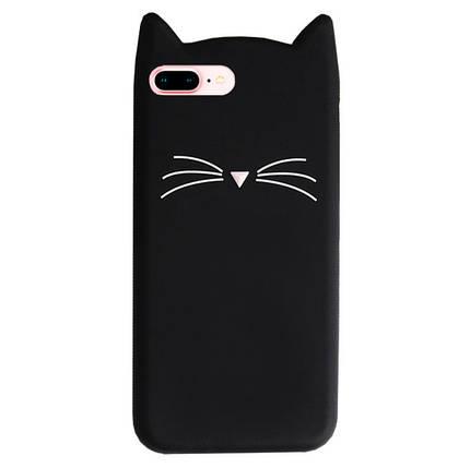Чехол для iPhone 7 Plus/8 Plus Silicone Cat черный, фото 2