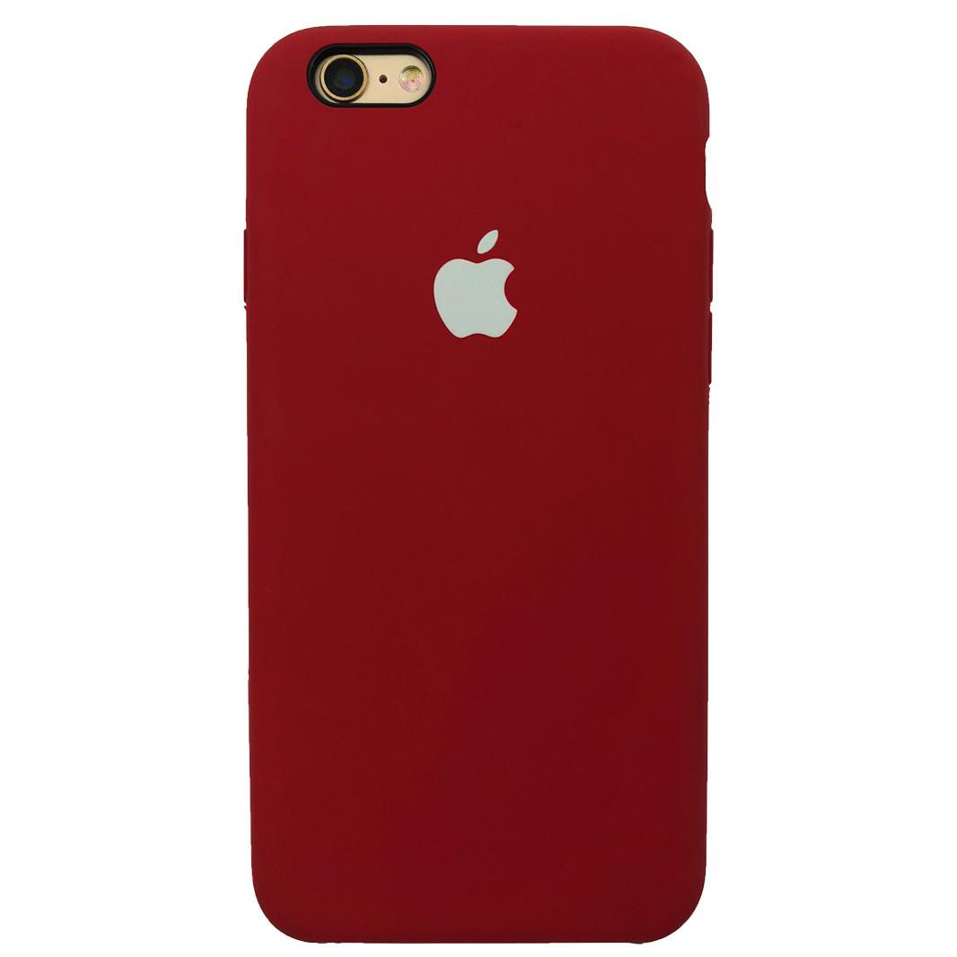 Чехол для iPhone 6/6s Silicone Case камелия с белым яблоком