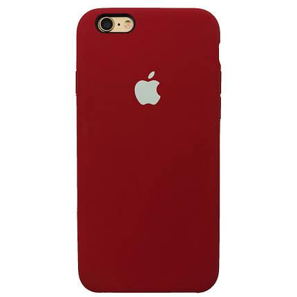 Чехол для iPhone 6/6s Silicone Case камелия с белым яблоком, фото 2