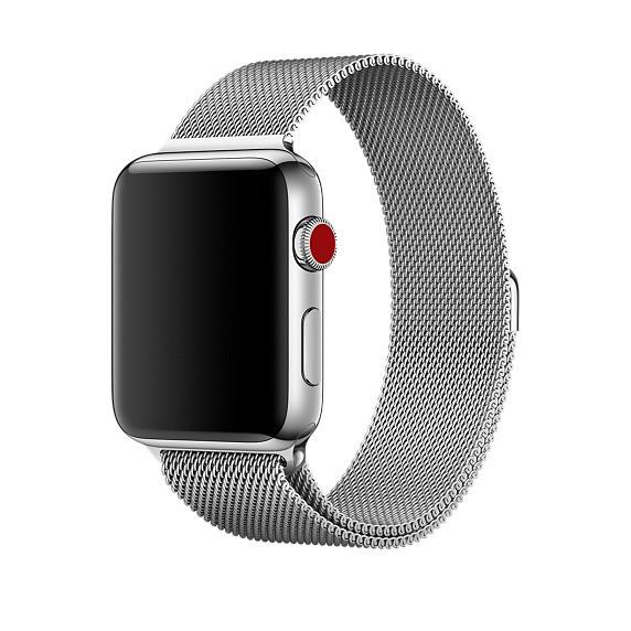 Ремешок xCase для Apple watch 38/40 mm Milanese Loop Metal Silver (серебро)