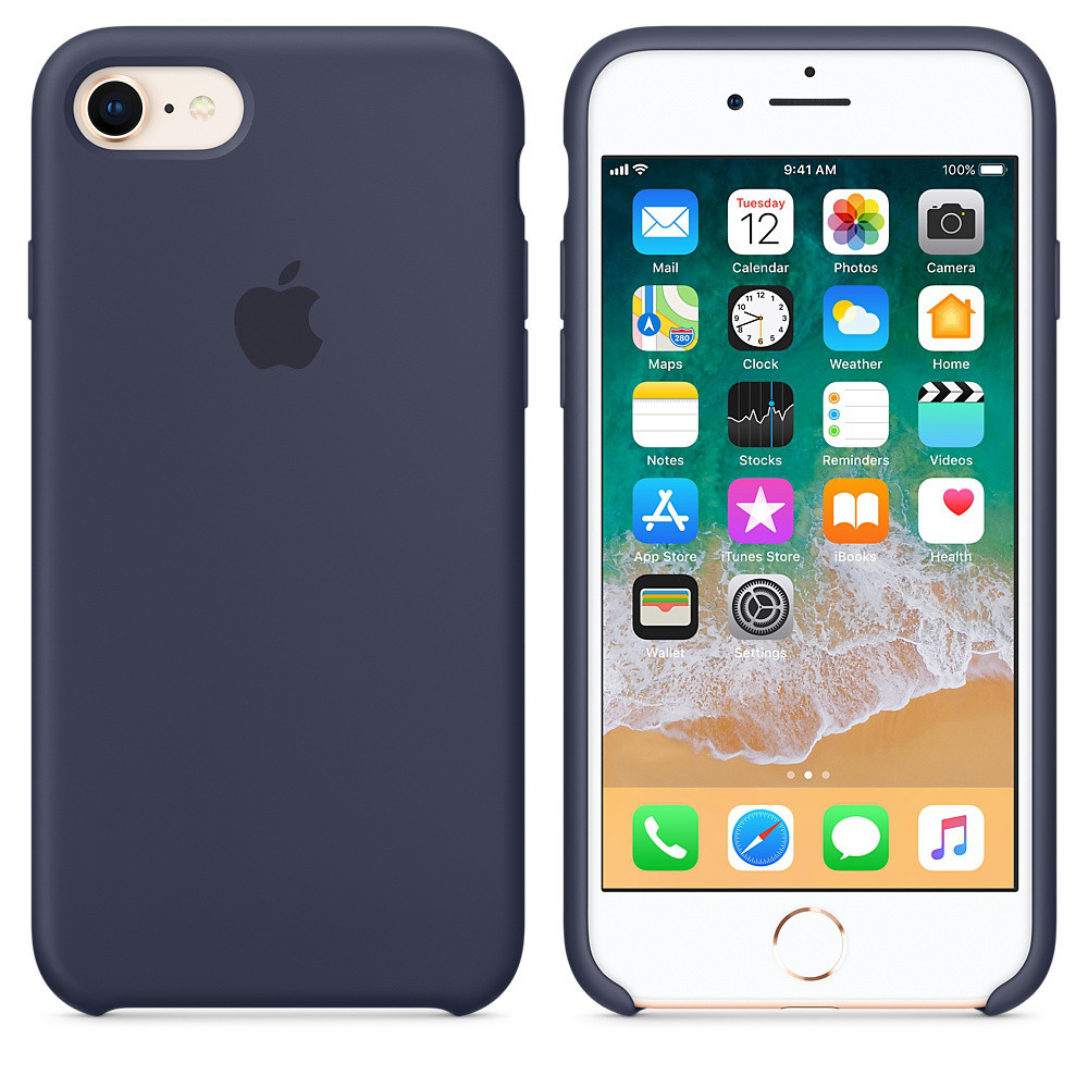 Чехол OEM for Apple iPhone 7/8 Silicone Case Midnight Blue (MQGM2)