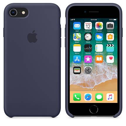 Чехол OEM for Apple iPhone 7/8 Silicone Case Midnight Blue (MQGM2), фото 2