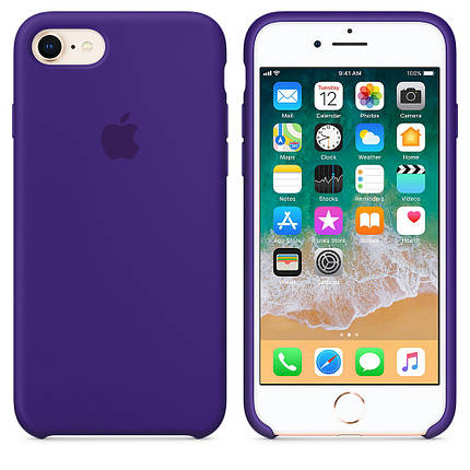 Чехол OEM for Apple iPhone 7/8 Silicone Case Ultra Violet (MQGR2), фото 2
