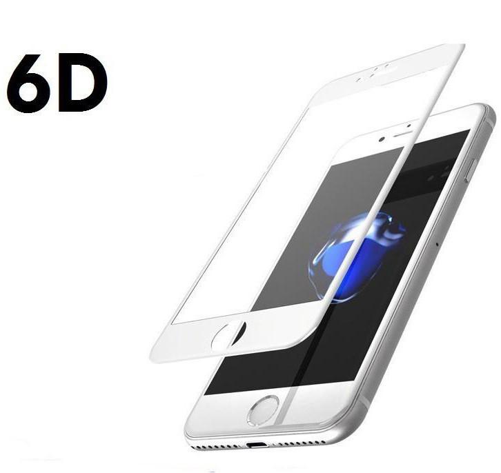 Защитное стекло 6D для iPhone 7/8 белый, тех.упак.