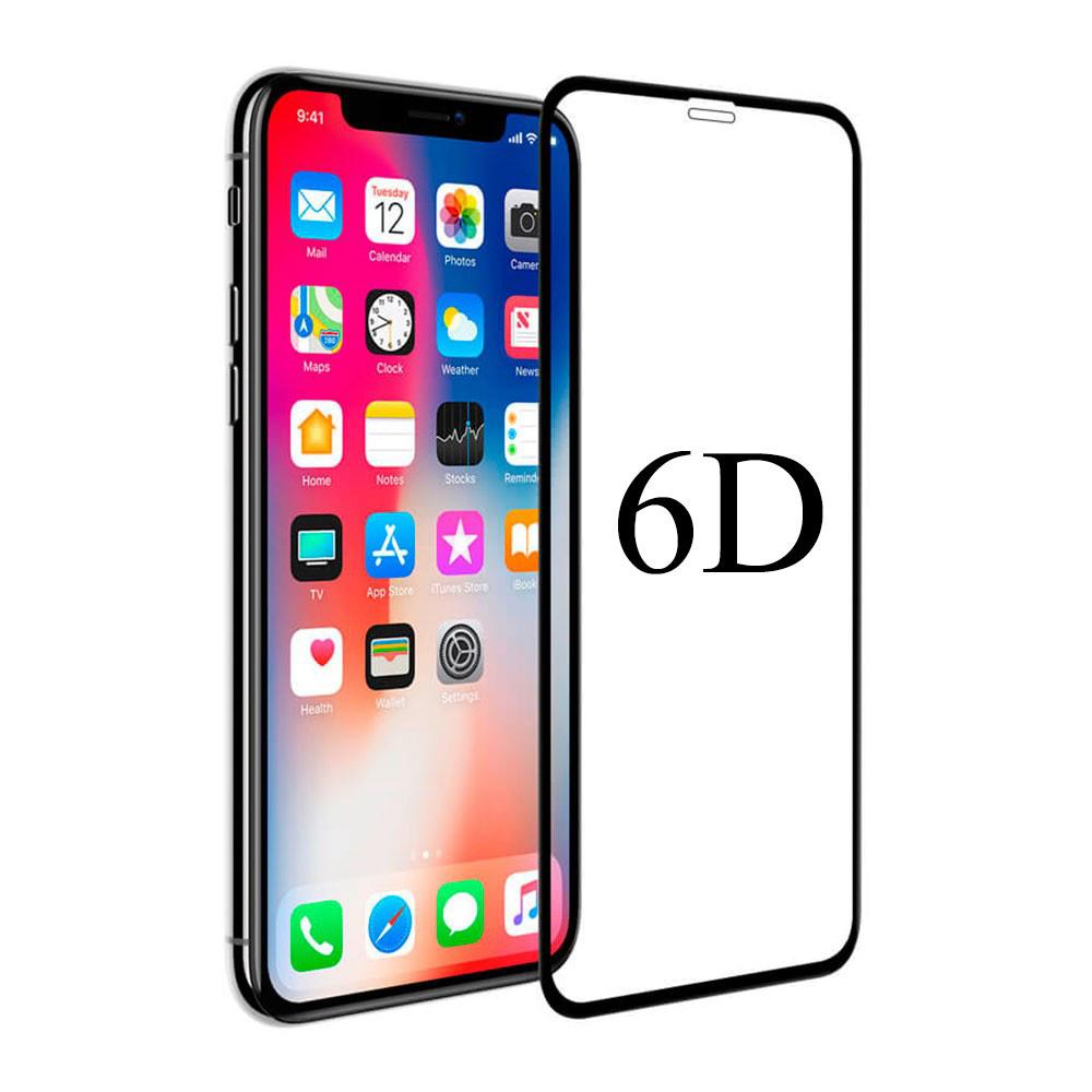 Защитное стекло 6D для iPhone X/XS black тех уп.